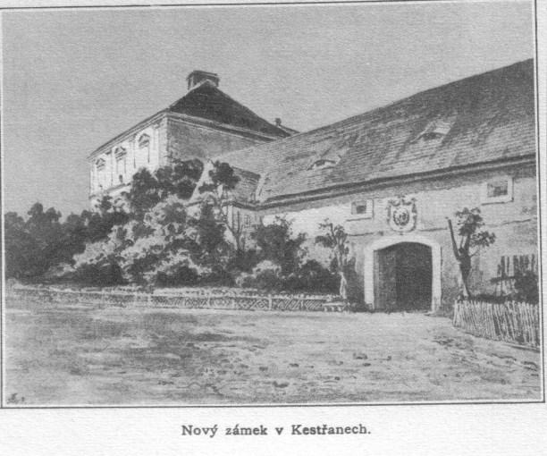 zámek v Kestřanech