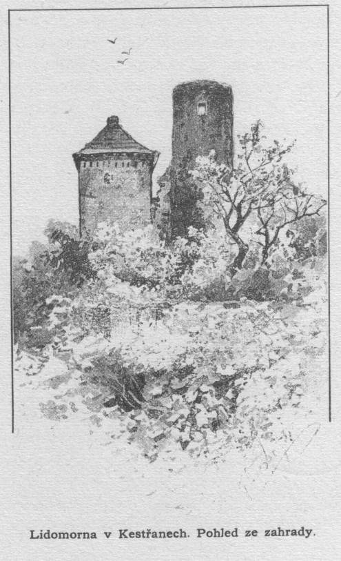 Lidomorna v Kestřanech - pohled ze zahrady
